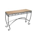 Raw Steel Scroll Table