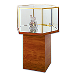 Tecno Hexagonal Pedestal Showcase