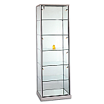 Tecno Glass Top Rectangular Tower Showcase