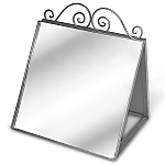 Raw Steel Shoe Mirror