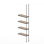 Floor to Ceiling Cable Extension Kit for 4 Wood Shelves