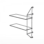 Wall Cable Extension Kit for 2 Glass Shelves