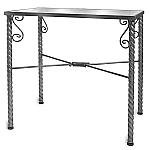 Raw Steel Spiral Leg Table