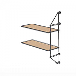 Wall Cable Extension Kit for 2 Wood Shelves