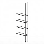 Floor to Ceiling Cable Extension Kit for 4 Glass Shelves
