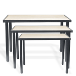 Raw Steel Nesting Tables