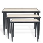 Raw Steel Nesting Tables