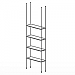 Floor to Ceiling Cable Kit for 4 Glass Shelves