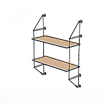 Wall Cable Kit for 2 Wood Shelves