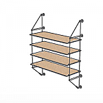 Wall Cable Kit for 4 Wood Shelves