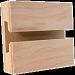 White Birch Veneer Slatwall Panel
