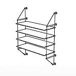 Wall Cable Kit for 4 Glass Shelves