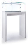 Tecno Large Open Pedestal Showcase