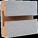 LPL Brushed Aluminum Slatwall Panel