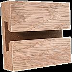 Red Oak Veneer Slatwall Panel