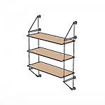 Wall Cable Kit for 3 Wood Shelves