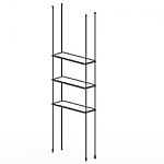 Floor to Ceiling Cable Kit for 3 Glass Shelves
