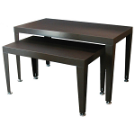 Mocha and Black Nesting Tables