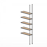 Floor to Ceiling Cable Extension Kit for 5 Wood Shelves