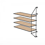 Wall Cable Extension Kit for 4 Wood Shelves