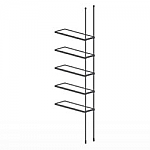 Floor to Ceiling Cable Extension Kit for 5 Glass Shelves